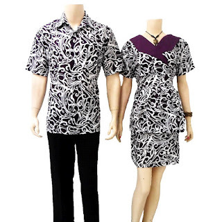 baju batik couple dress modern